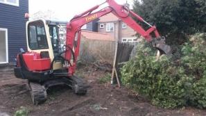 Uitgraven tuin Herveld